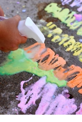 Rainbow Erupting Sidewalk Chalk Paint (9)